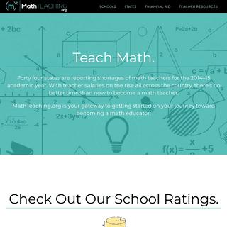 ArchiveBay.com - mathteaching.org - Math Teacher Certification & Degrees - MathTeaching.org