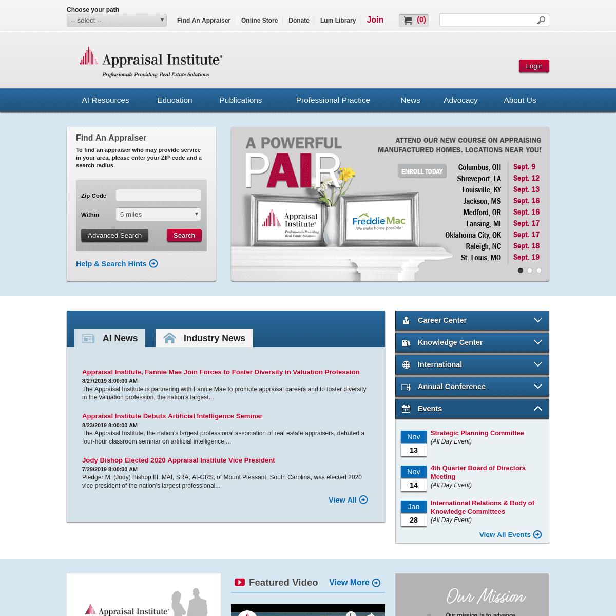 ArchiveBay.com - appraisalinstitute.org - AI Home - Appraisal Institute