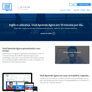 Curso de Inglês e Liderança online - Você Aprende Agora
