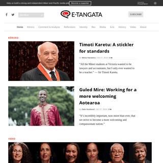 E-Tangata - A Māori and Pasifika Sunday magazine