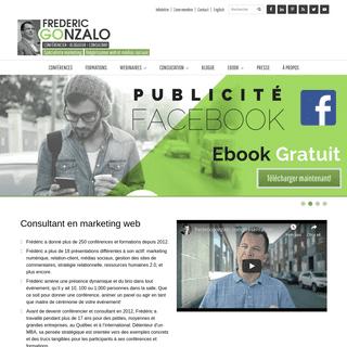Consultant marketing web et médias sociaux - Frederic Gonzalo