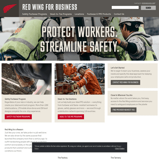Employee Footwear & Workwear PPE Safety Programs - Red Wing For Business