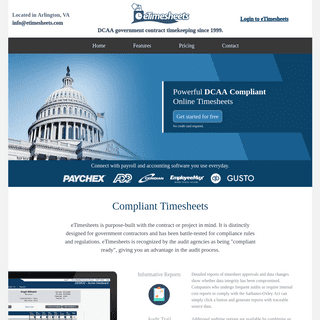 eTimesheets - DCAA Compliant Time Tracking Software