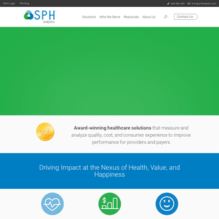 SPH Analytics Healthcare Solutions - Health - Value - Happiness