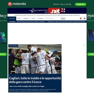 News Cagliari Calcio- video, amarcord, approfondimenti e curiosità sul Cagliari Calcio
