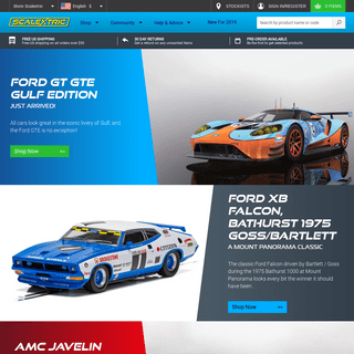 Scalextric - Cars, digital cars, sets & track for slot cars
