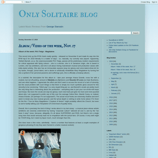 Only Solitaire blog