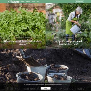 Allt om Trädgård – Allt om Trädgård är Nordens största trädgårdsmagasin. Låt dig inspireras, läs om växter och få