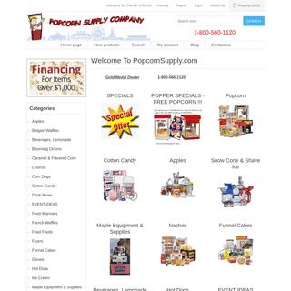 A complete backup of popcornsupply.com