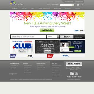 Dotster - Domain Registration and Website Hosting