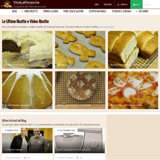 ArchiveBay.com - vivalafocaccia.com - VivaLaFocaccia - Le video ricette per il pane, la pizza e i dolci.