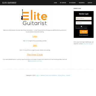 Home of Dan Thorpe`s Premium Guitar Resources