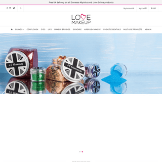 Love Makeup UK official stockists of premium and