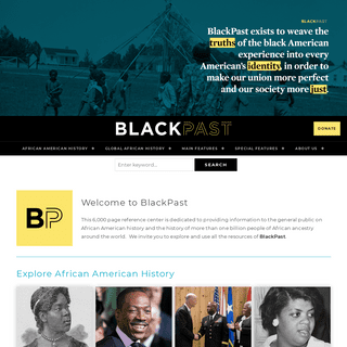 Welcome to Blackpast • BlackPast