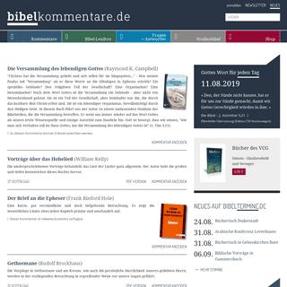 Startseite -- bibelkommentare.de