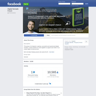 Digital Nomads Forum Public Group - Facebook