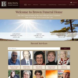 Brown Funeral Home Inc. - Plattsburgh, Cadyville, Altona, NY