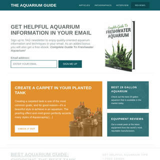 The Aquarium Guide - Aquascaping Tips - Planted Tank Resources - Aquarium Equipment Reviews