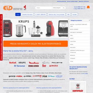 ELP – servis Žilina - záručný a pozáručný servis elektro-spotrebičov