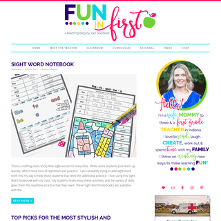 Fun in First - A Teaching Blog by Jodi Southard