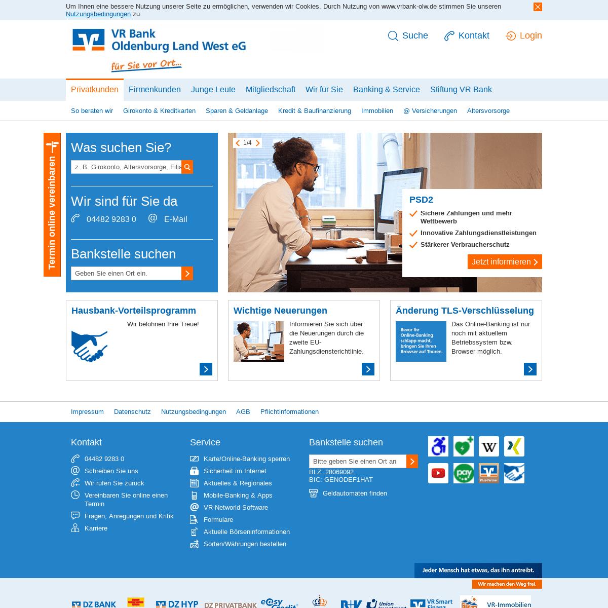 Privatkunden Vr Bank Oldenburg Land West Eg Vrbank Olw De Citation Archivebay Com