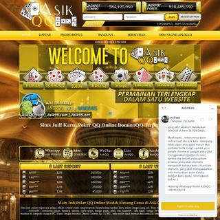 AsikQQ- Situs Judi Poker QQ Online Domino 99 BandarQ Terpercaya
