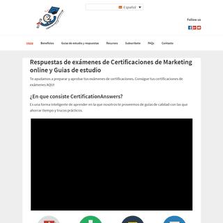 ArchiveBay.com - certificationanswers.com - 🥇 Respuestas de Examenes de Google Adwords, HubSpot 2019