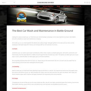 Car Wash & Auto Detail Battle Ground WA - Clean Machine Car Wash