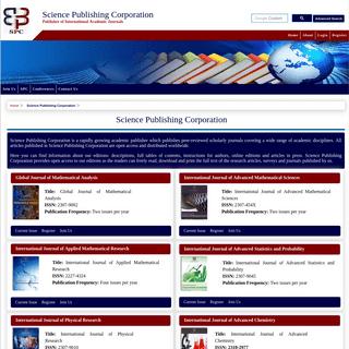 Science Publishing Corporation