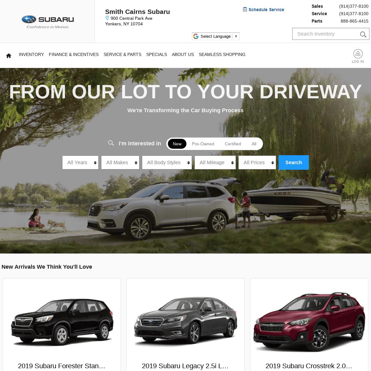 Subaru Dealership in New York - Yonkers - New Rochelle