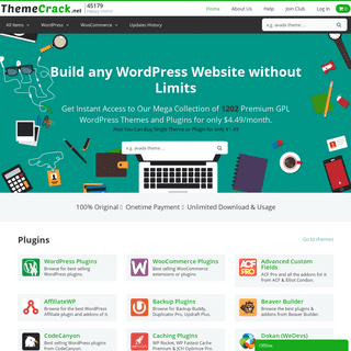 Premium WordPress and WooCommerce Plugins & Themes Original - ThemeCrack