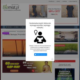 Portal popularnonaukowy - biologia, chemia, medycyna