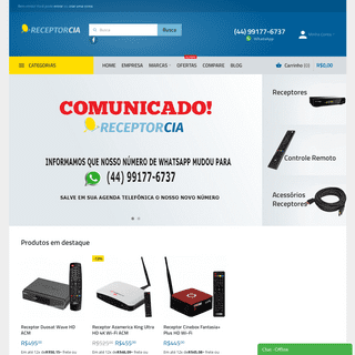 Receptorcia - Comprar Azamerica - Cinebox - Duosat - Freesky