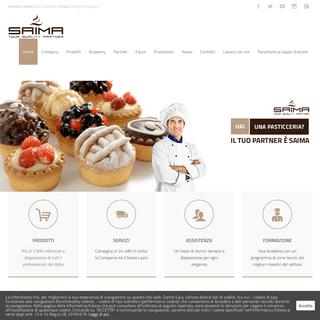 ArchiveBay.com - saimaspa.com - Saima S.p.a. – Distribuzione di materie prime, semilavorati e prodotti finiti per laboratori di pasticceria, gelateria e per o
