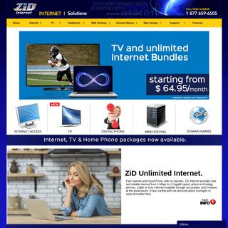 ZiD Internet-Internet Service Provider(ISP),TV,Home Phone,Webhosting,and Domain Name provider