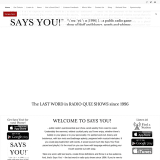 Says You! A Game of Bluff and Bluster, Words and Whimsy
