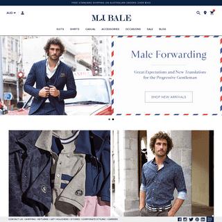 ArchiveBay.com - mjbale.com - Men's Suits, Tuxedos, Shirts & Men's Fashion - MJ Bale