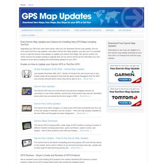 Free Garmin Map Updates & TomTom Map Updates - GPS Map Updates