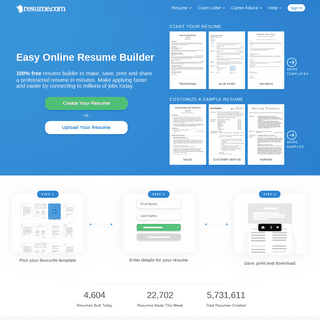 Easy Resume Builder - Free Resumes to Create & Download - Resume.com