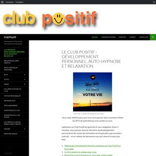 Le Club Positif - développement personnel, auto-hypnose et relaxation - Club Positif