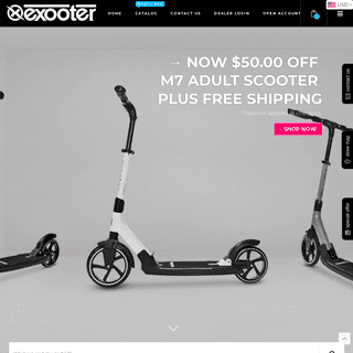 EXOOTER USA - Adult Scooters - Kick Scooters - Teen Scooters