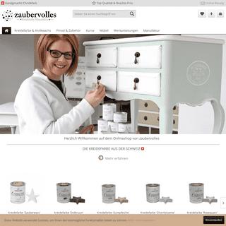 zaubervolles - Kreidefarbe Manufaktur - für Möbel & Kreatives im Shabby Chic Stil - zaubervolles - Kreidefarbe Manufaktur