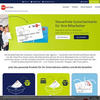 Edenred One - Gutscheinkarten für kleine Unternehmen direkt bestellen