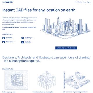 Worldwide map files for any design program - CADMAPPER