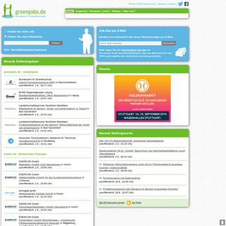 greenjobs.de - die Jobbörse für Umweltfachkräfte
