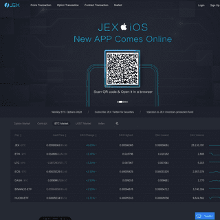 JEX - Cryptocurrency Bitcoin Options and Futures Exchange