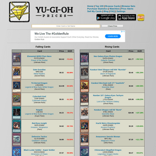 YuGiOh Card Prices - Constantly Updated Prices From Multiple Sources