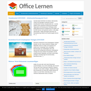 Tutorials und Vorlagen - Office-Lernen.com