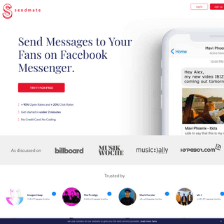 Sendmate - Newsletter Marketing for Messenger