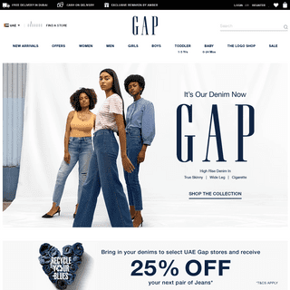 Gap UAE - Shop Women's, Men's, Kids & Baby Clothes Online Shopping in UAE